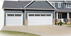recessed garage door